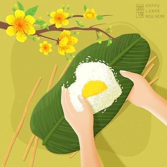 Comida tradicional lunar ano novo