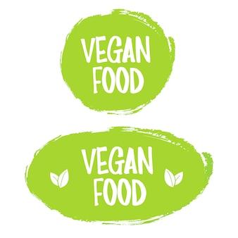 Comida vegana. carimbo. adesivo