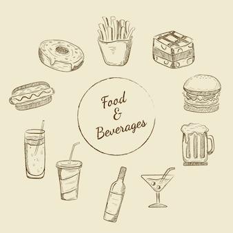 Comidas e bebidas projetos