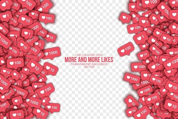 Como contador instagram ícones abstrato