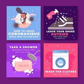 Como deixar o coronavírus para trás quando voltar para casa instagram posts