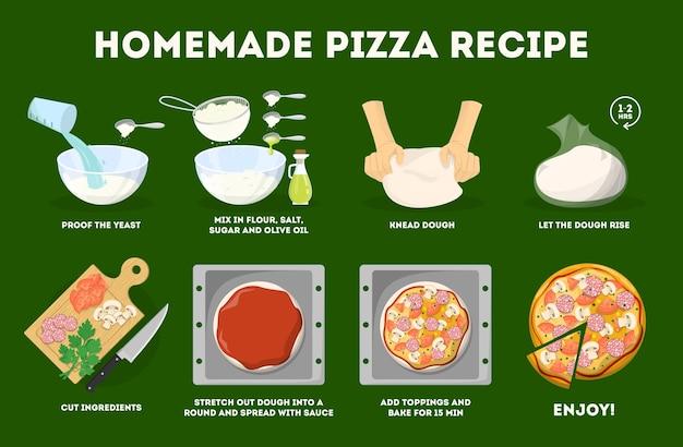 Como fazer pizza em casa. receita fácil