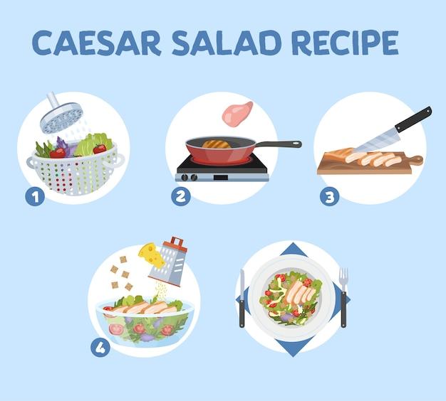 Como fazer salada césar em casa