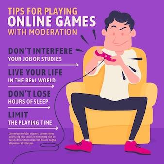 Como jogar com dicas de moderação