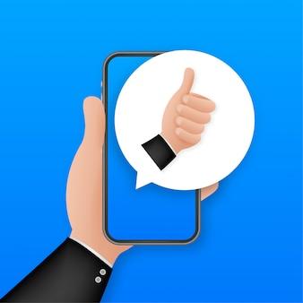 Como no feedback para celular. tela do smartphone. ícone da web. postagem na rede social. mídia social como ícone.