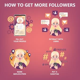 Como obter muitos guias do seguidor para as pessoas
