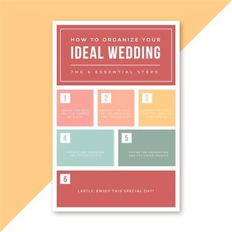 Como organizar seu infográfico de casamento perfeito