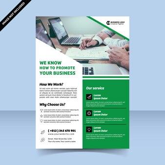 Como promover o modelo de design de folheto de negócios