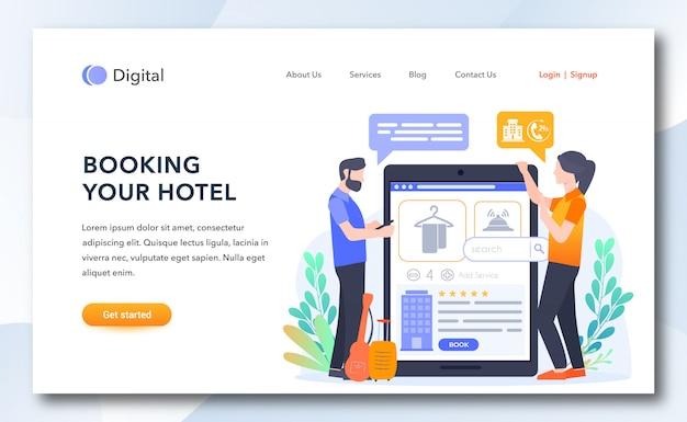 Como reservar seu modelo de página de destino do hotel