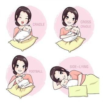 Como tomar um bebê por uma mãe