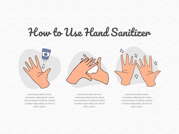 Como usar o design de desinfetante para as mãos