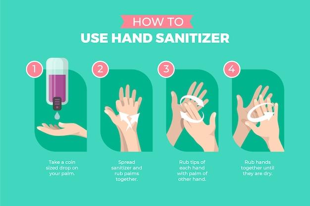 Como usar o tutorial de desinfetante para as mãos
