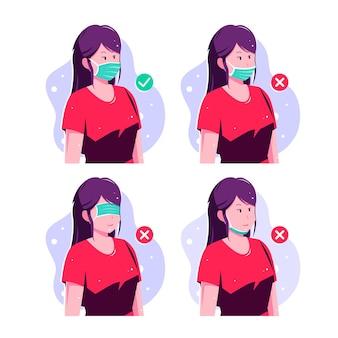Como usar uma máscara facial certo e errado
