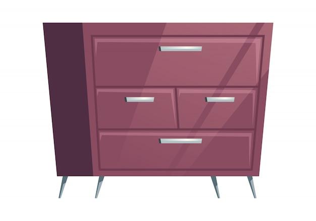 Cômoda de móveis de quarto dos desenhos animados