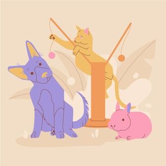 Companheiros animais de melhores amigos humanos
