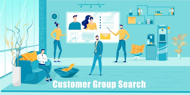Company analytics search new customers group.