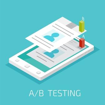 Comparação ab. teste de divisão