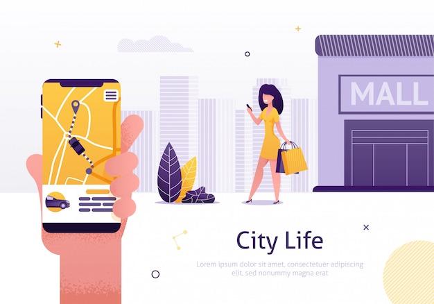 Compartilhamento de carro e serviço de aluguel de página da web do aplicativo móvel
