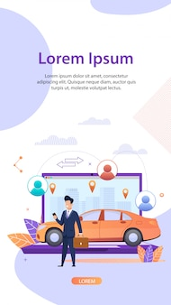 Compartilhamento de carro. serviço de aluguel de veículos. fracionário.