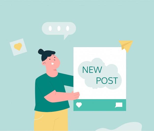 Compartilhamento de conteúdo nas redes sociais