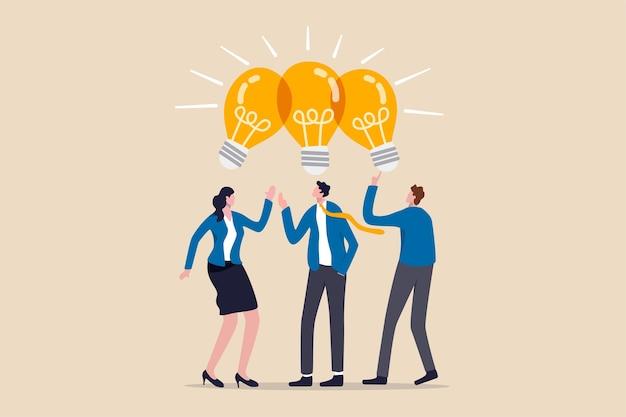 Compartilhando ideias de negócios, reunião de colaboração