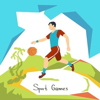Competição de esporte de jogo de jogador de basquete