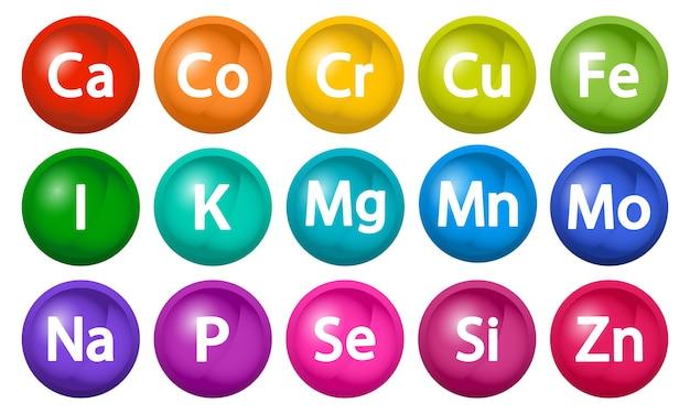 Complexo mineral com bolhas de complexo multivitamínico