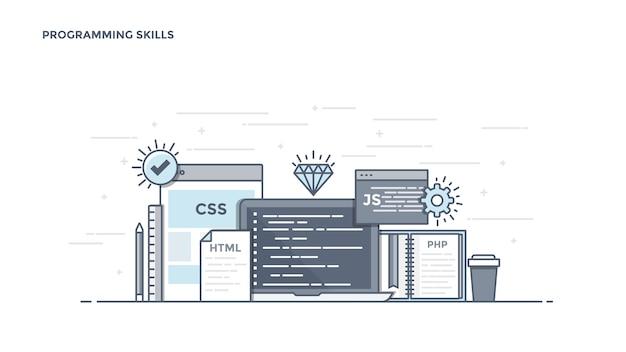 Componentes de habilidades de programação modernos