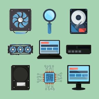 Componentes de hardware de computador