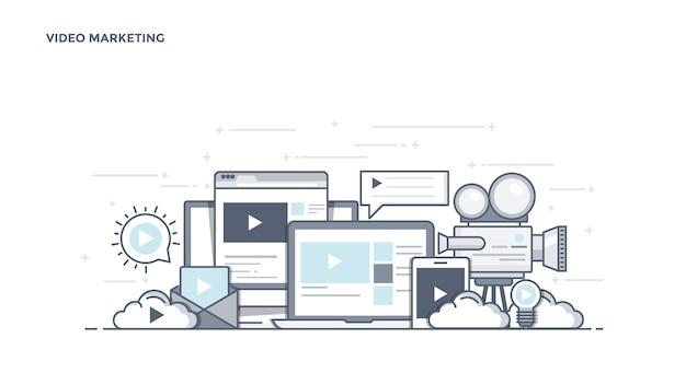Componentes modernos de marketing de vídeo