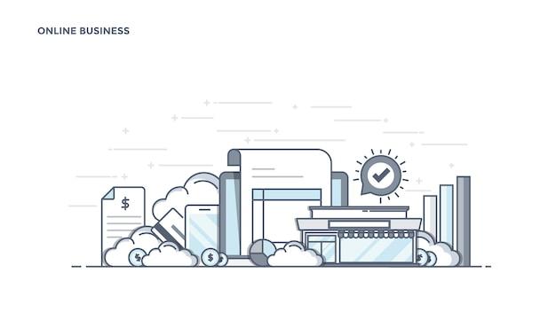 Componentes modernos de negócios online