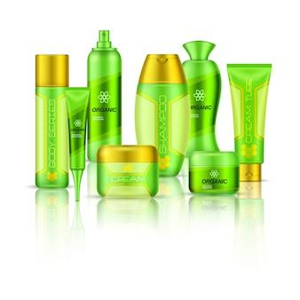 Composição 3d de cosméticos