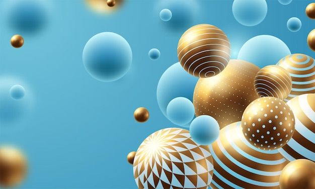 Composição abstrata com esferas 3d