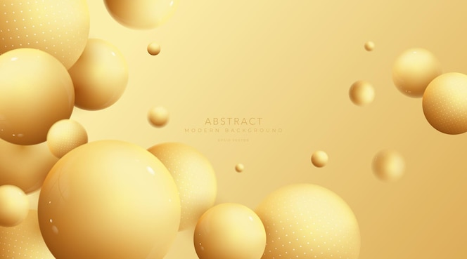 Composição abstrata de bolas 3d. esfera com efeito de desfoque.