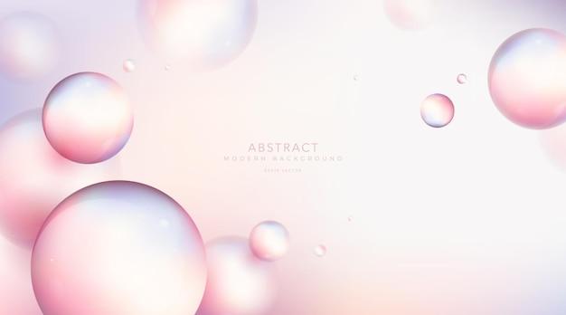 Composição abstrata de bolas. esfera com efeito de desfoque.