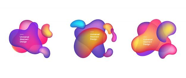 Composição abstrata de elementos transparentes