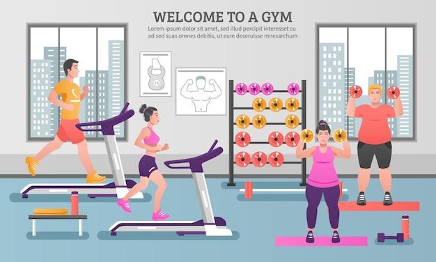 Composição colorida de fitness