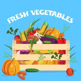 Composição colorida de legumes