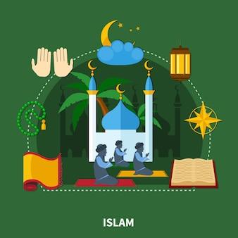 Composição colorida de religiões
