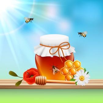 Composição colorida mel