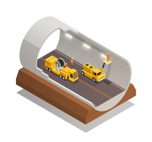 Composição da construção do túnel
