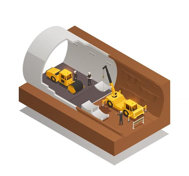 Composição da construção do túnel Vetor grátis