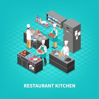 Composição da cozinha da corte de alimento