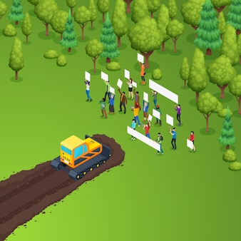 Composição da eco forest meeting