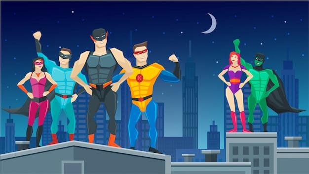 Composição da equipe de super-heróis