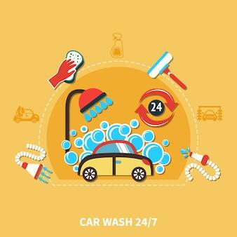 Composição da lavagem de carros 24h