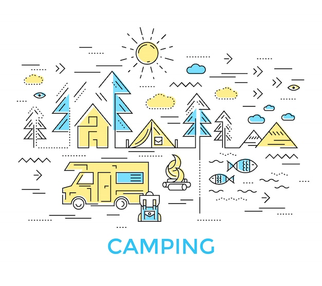 Composição da linha camping