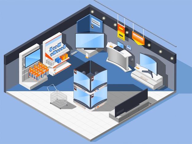 Composição da loja de aparelhos multimídia