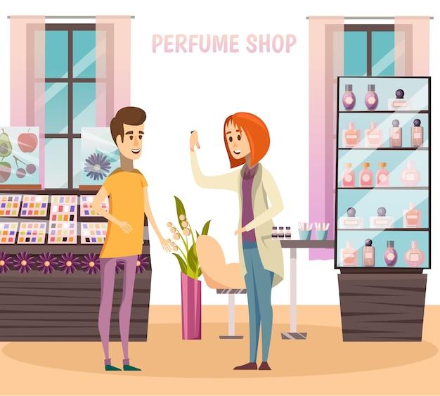 Composição da loja de perfumes