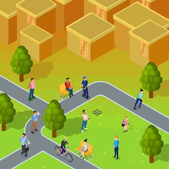 Composição da sociedade da cidade